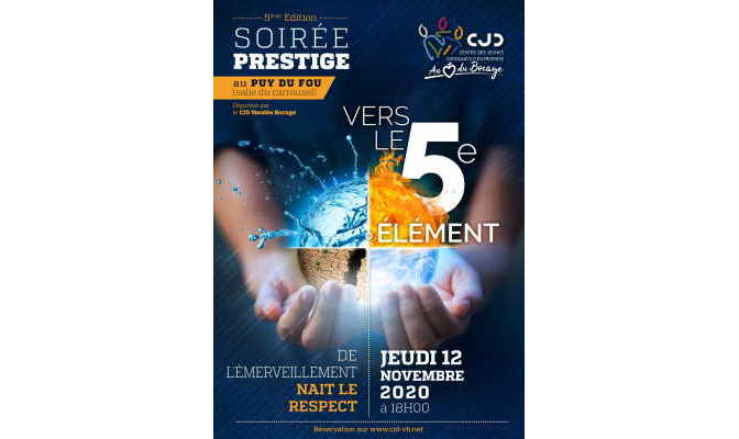 Affiche soirée prestige CJD 2020